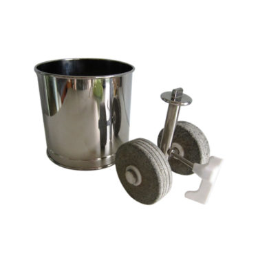 Melanger Spare part - Mini Drum with Roller Stone Assembly including Wiper